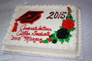 Costco Graduation Cake Example 1